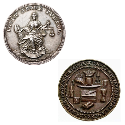 Town council and guild medals